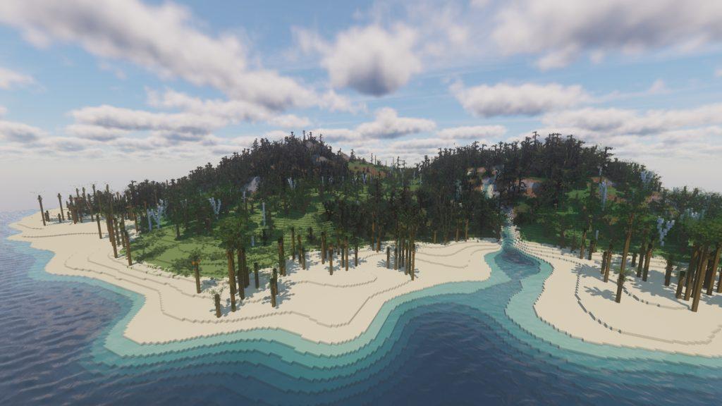 Giant Minecraft Island Terrain