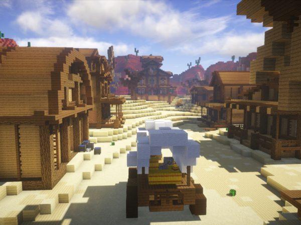 Wild West village showdown street