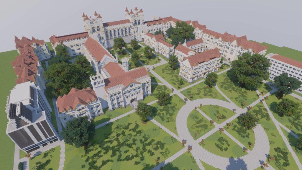 Minecraft University of Chicago build
